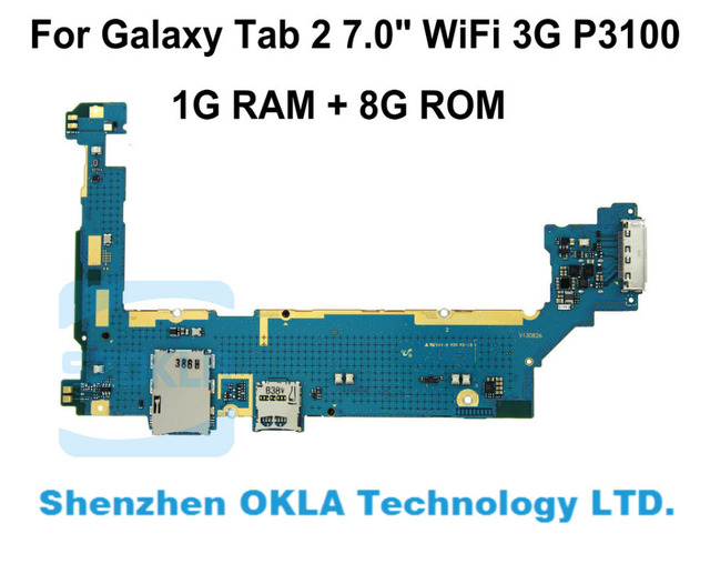 US $21 6 |1pcs For Samsung Galaxy Tab 2 7 0 WiFi 3G P3100 1G RAM 8G  Mainboard Motherboard Logic Board Replacement from original phone-in Mobile  Phone