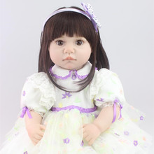 2016 New Arrival 22inch 55cm Handmade Silicone Reborn Baby Doll Soft Touch Lifelike Baby Alive Boneca Dolls Free Shipping