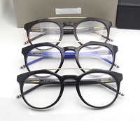 Thom Browne New York Brand Tb711 Acetate Metal Square Half Frame Eyeglasses Optical Reading Men Eye
