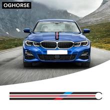Для BMW F20 F22 F23 F30 F32 F34 F10 F11 G30 G20 E60 E39 E46 E90 Z4 автомобиля капот Racing в полоску наклейка крышка двигателя Стикеры