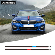 For BMW F20 F22 F23 F30 F32 F34 F10 F11 G30 G20 E60 E39 E46 E90 Z4 Car Hood Bonnet Racing Stripe Line Decal Engine Cover Sticker