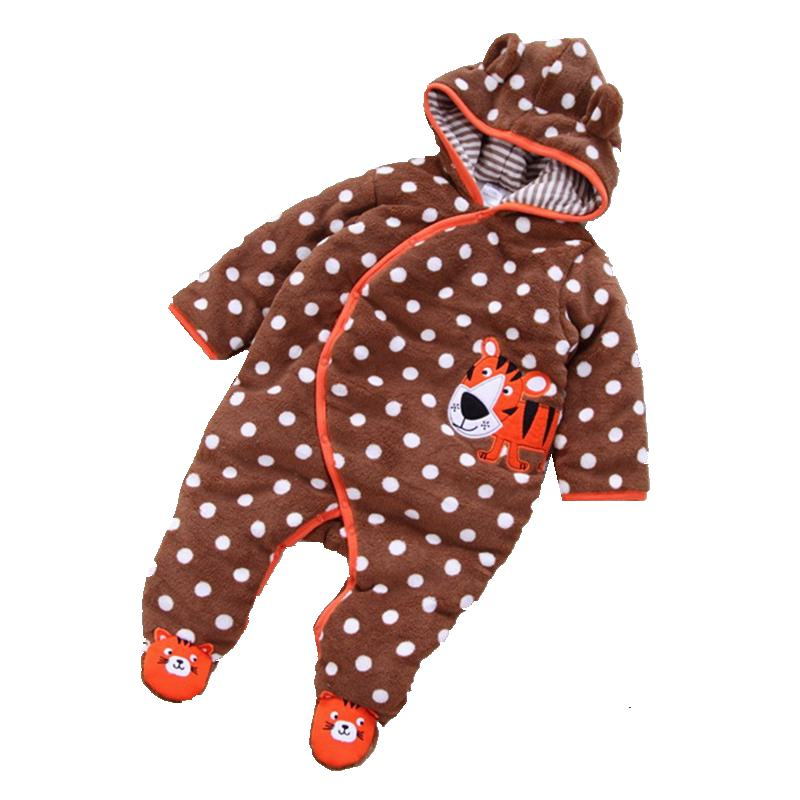 Cute Tiger One Piece Baby Boy Romper Jumpsuit Warm Cotton Padded Baby Winter Clothes Macacao Bebe Overalls Infant Clothing puseky 2017 infant romper baby boys girls jumpsuit newborn bebe clothing hooded toddler baby clothes cute panda romper costumes