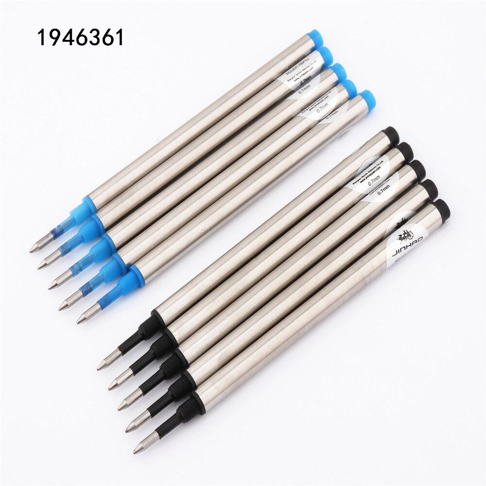 Jinhao цвет синий, черный; Большие размеры винт со сменными чернилами 0,7 мм Наконечник Ручка-роллер новые школьные канцелярские принадлежности...