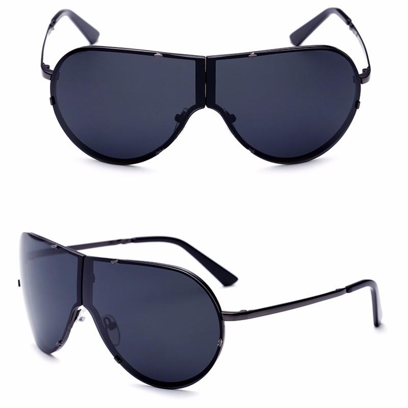 Lager Motorcycle Sunglassses Men Women Oversize Frameless Sunglasses Foldable Glasses Big Moto Goggles 8487 (6)