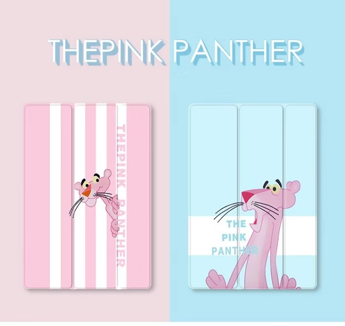 Ultra Slim Lightweight Pink Panther Case For iPad 9.7 2017 2018 A1822 A1893 Funda Stander Smart Cover Air1 Air2 A1474