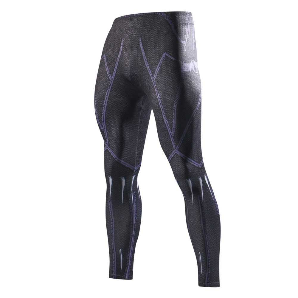 Newest 3D Printed Black Panther Compression Pants Men Fashion Brand Exercise Leggings Men Casual Skinny Pants Fitness Trousers