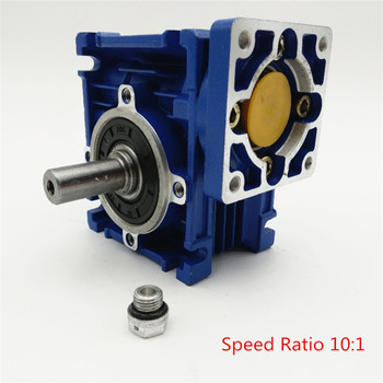 New Arrival NMRV030 Worm Reducer Speed Ratio 10:1 RV30 RV030 Worm Gearbox Speed Reducer for NEMA23/36/42 Servo/Stepper Motors dc12v 90w rv30 rv40 speed control motor with worm gear reducer right angle motor