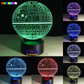 2016 Hot Star Wars Death Star 7 colors 3D LED Night Light All Colors Flash In Turn and gift to friend