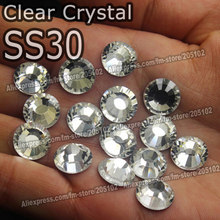 SS30 288pcs Bag Clear Crystal DMC HotFix FlatBack Rhinestones glass strass 30bf1f74be7b