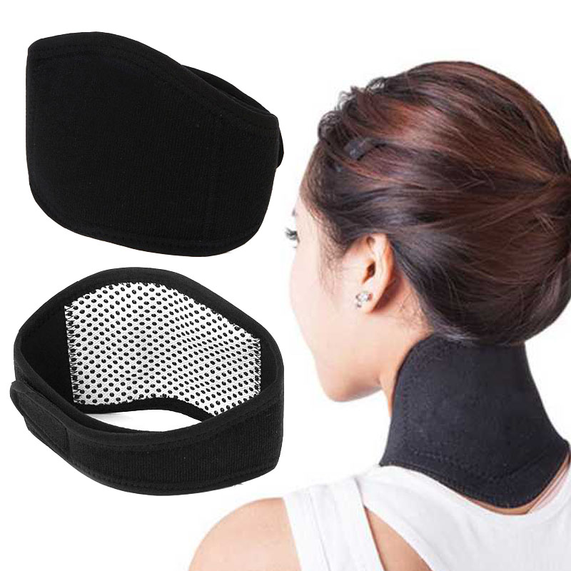 Neck massager Magnetic Health Care Tourmaline Far Infrared Ray Spontaneous Heating Pain Relief massage Neck scarves warmer Belt pop relax tourmaline health products prostate massager for men pain relief 3 balls germanium stone far infrared therapy heater