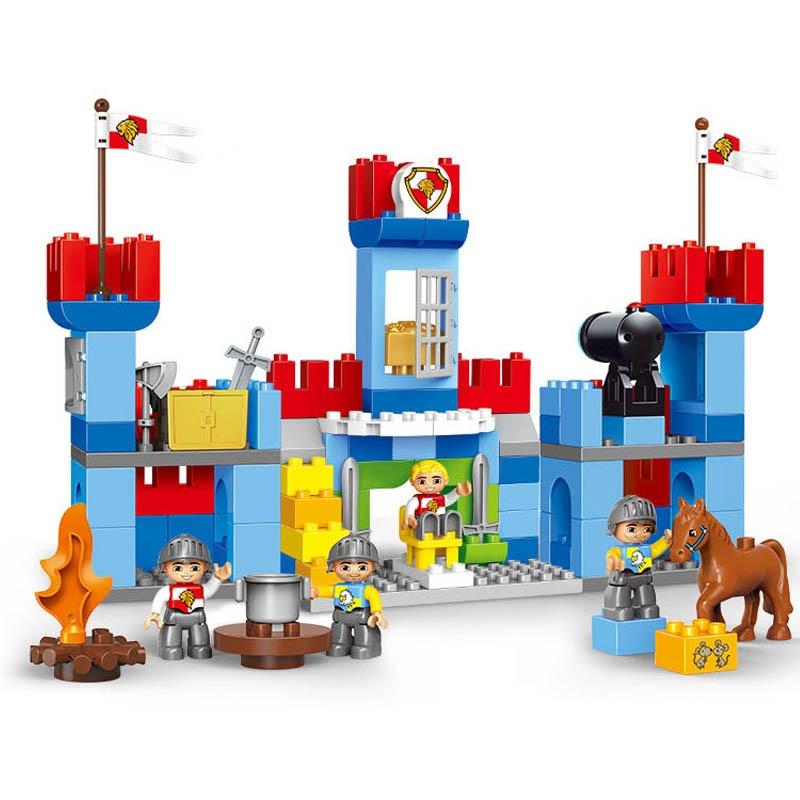 GOROCK 138 pièces grande taille blocs château Duplo grandes particules guerre blocs de construction brique éducatif bébé ville jouet Compatible brique