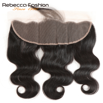 Rebecca Malaysian Body Wave Lace Frontal 13X4 Ear To Ear Lace Frontal With Baby Hair Closure 100% Remy Human Hair Free Shipping