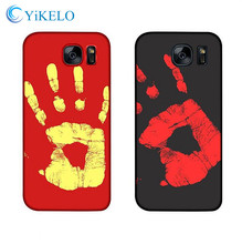 YiKELO 2017 NEW hot PU Physical thermal discoloration cover Case for Samsung Galaxy S7 edge S8 plus Thermal Sensor capa Coqua