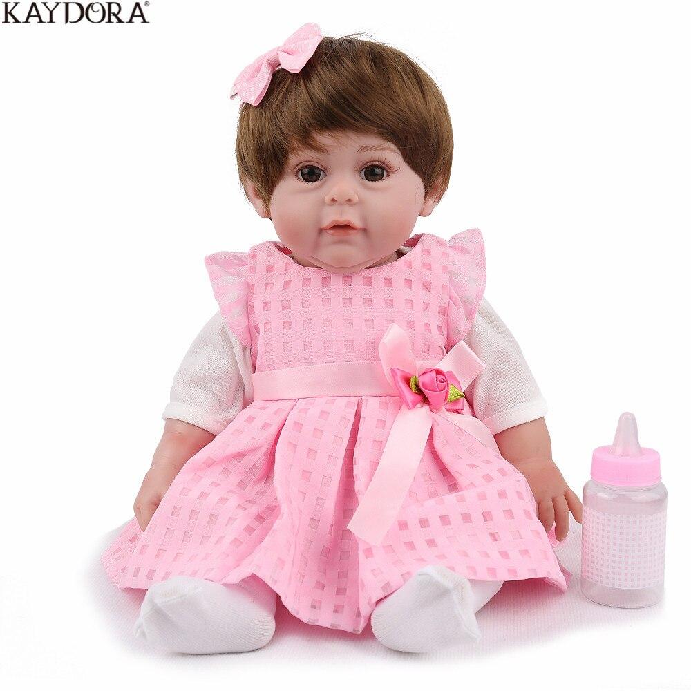 KAYDORA 17 pouces 43 cm Silicone Reborn bébé poupées vivant Bebe Reborn Bonecas réaliste fille réaliste cadeau d'anniversaire de noël