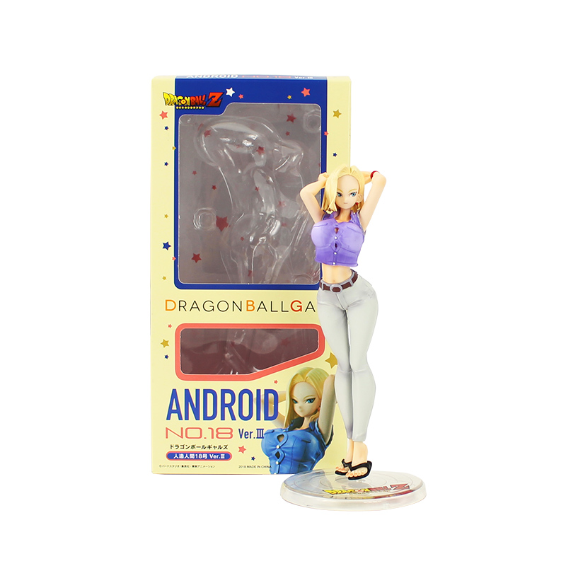 18cm <font><b>Android</b></font> <font><b>18</b></font> lazuli <font><b>sexy</b></font> action figure model toy anime dragon ball #<font><b>18</b></font> lazuli dragonball krillin wife son goku kakarotto image
