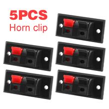 цена на 5Pcs/lot 2 Positions Connector Terminal Push in Jack Spring Load Audio Speaker Terminals Panel Plug