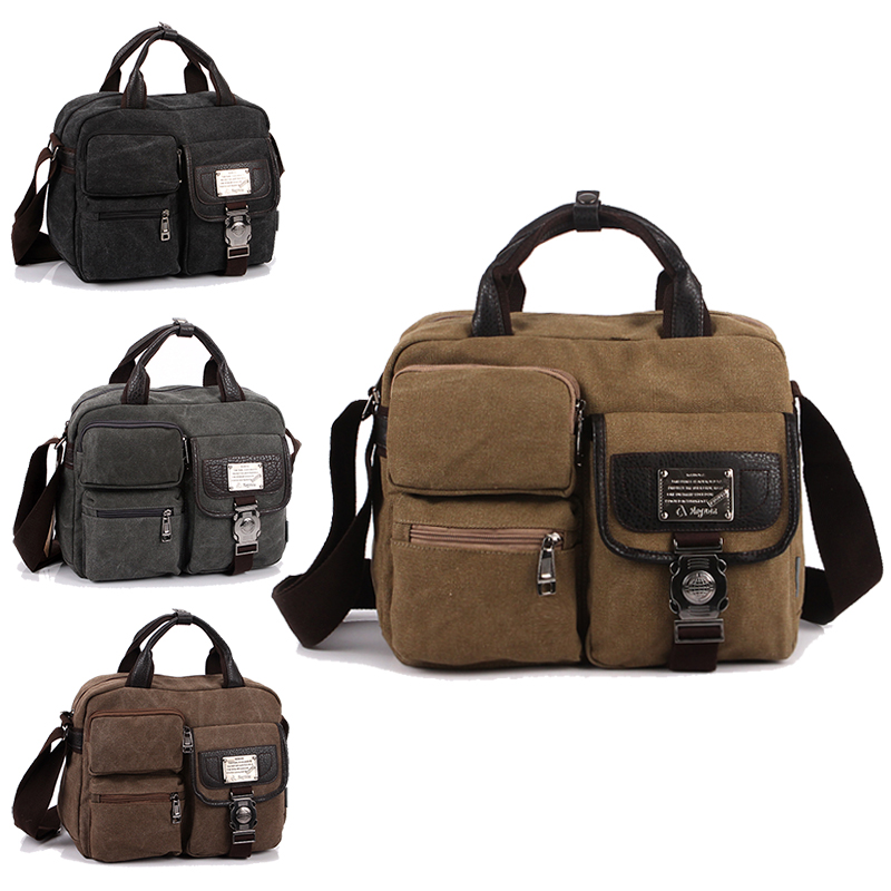 Fashion Canvas Handbag Shoulder Bag Men Vintage Crossbody Sling Bags For Men Satchel Casual Messenger Shoulder Bag Travel 1061 2017 canvas leather crossbody bag men military army vintage messenger bags large shoulder bag casual travel bags