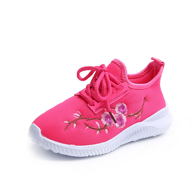 Tireless New Kids Soft Embroidered Shoes Boys And Girls Soft Light Sport Sneakers Unisex Non-slip Casual Shoes Size 23-34 Girls Mother & Kids