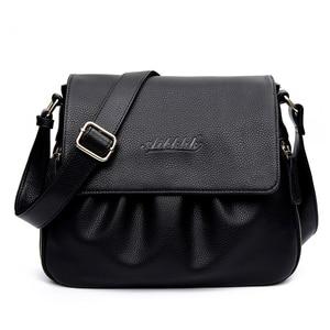 Image 1 - High Quality Genuine Leather Womens Handbags Casual Female Shoulder Bags Women Messenger Crossbody Bag Travel Bag Free Shipping