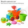 Coche de juguete de playa play cubo juguetes de playa de arena reloj de arena pala grande de traje de bebé jugando en el agua