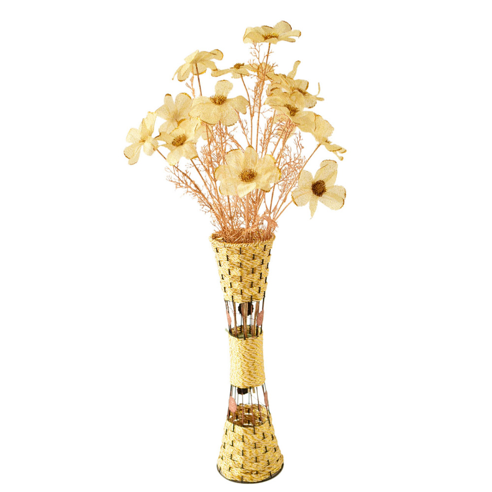 Large tall modern metal artificial flowers floor vases large tall modern metal artificial flowers floor vases arrangements for homes living room wedding decorative white golden brown in vases from home garden reviewsmspy