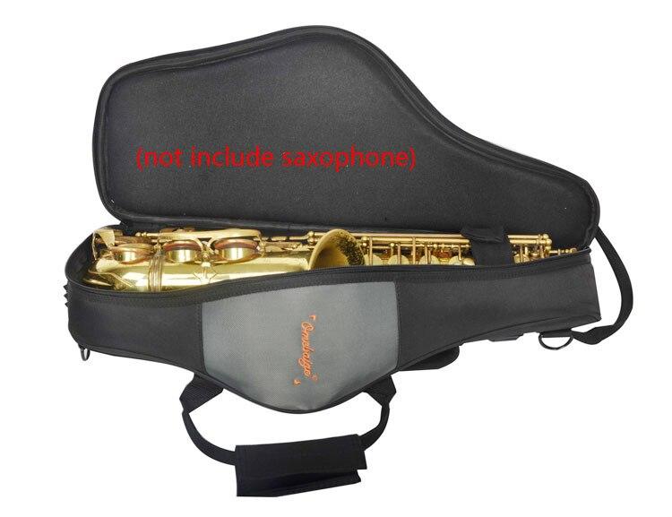 Lightweight Back Shoulder E-flat Alto Saxophone Bag Case Soft Backpack Luggage Portable lightweight black sponge shoulder bags for tenor saxophone case soft oxford cloth backpack luggage portable
