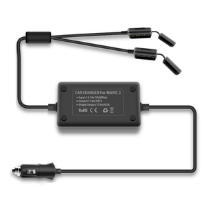 Image 5 - YX 1 to 2 Car Charger For DJI Mavic 2 Pro Zoom Drone Battery with 2 Battery Fast Charging Travel Transport Outdoor Charger