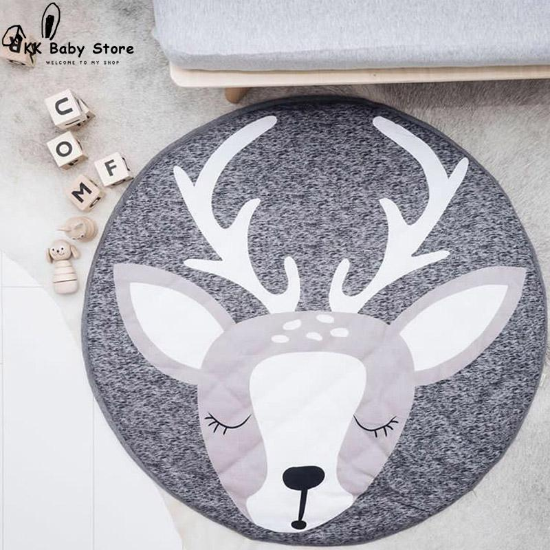 90cm Cotton Soft Baby PlayMat In Kids Room Decoration Play Carpet Baby Plush Mat  Kids Rug Toys for Children