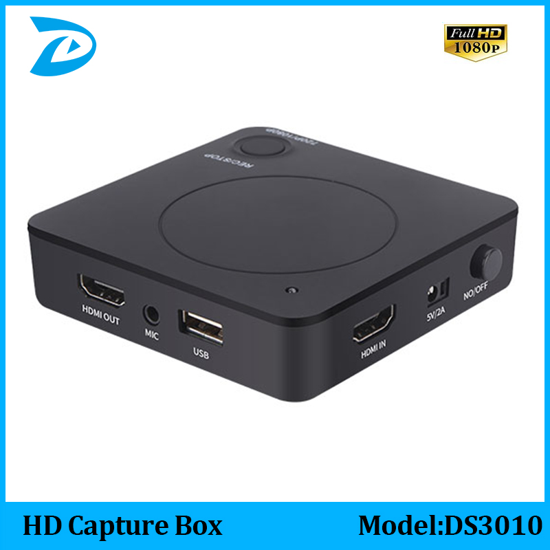 цена на HD Capture Box -HD Game Video Capture 1080P HDMI Recorder For XBOX One/360 PS3 /PS4 with One Click No PC Enquired No Any Set-up