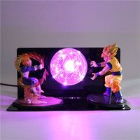 Dragon Ball Z Super Action Figures Desk Lamp Baby Bedroom DIY LED Night Light Kids Toys Creative Anime Model for Children Lights