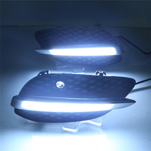 LED DRL for Mercedes Benz X205 GLC200 GLC260 GLC300 2015 2016 daytime running lights front fog lamp cover driving lights
