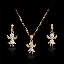 H:HYDE Elegant Luxury Jewelry Set Design Fashion Gold Filled Colorful Austrian Crystal Earrings Necklace Drop Jewelry Sets Women
