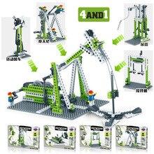 Деформация DIY Шестерня технология строительный блок колесо вращающийся детский интеллект креативное оборудование сборная игрушка Коллекция
