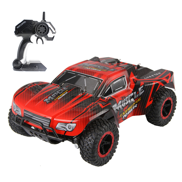 RC Cars Muscle Extreme Monster Truck 2.4G Remote Control Speed Racing Car 4 Wheel Independent Suspension Hobby Toy