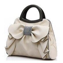 2016 neue Mode frauen Schön Floral Einkaufstasche Nette Damen Messenger Bags Süße Bowknot Handtaschen