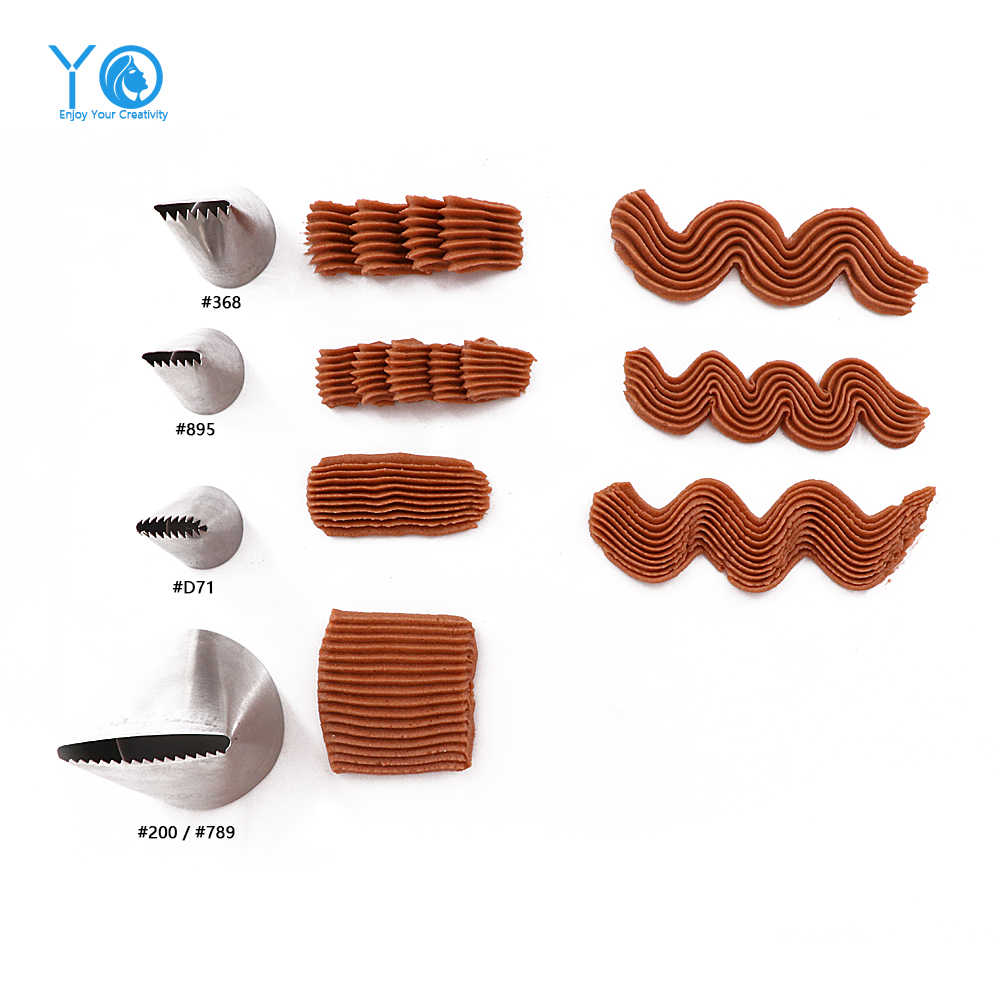 1-Piece Ukuran Besar Basketweave Tip Dekorasi Tips Stainless Steel Pastry Tips Icing Piping Nozzle Baking & Pastry Alat