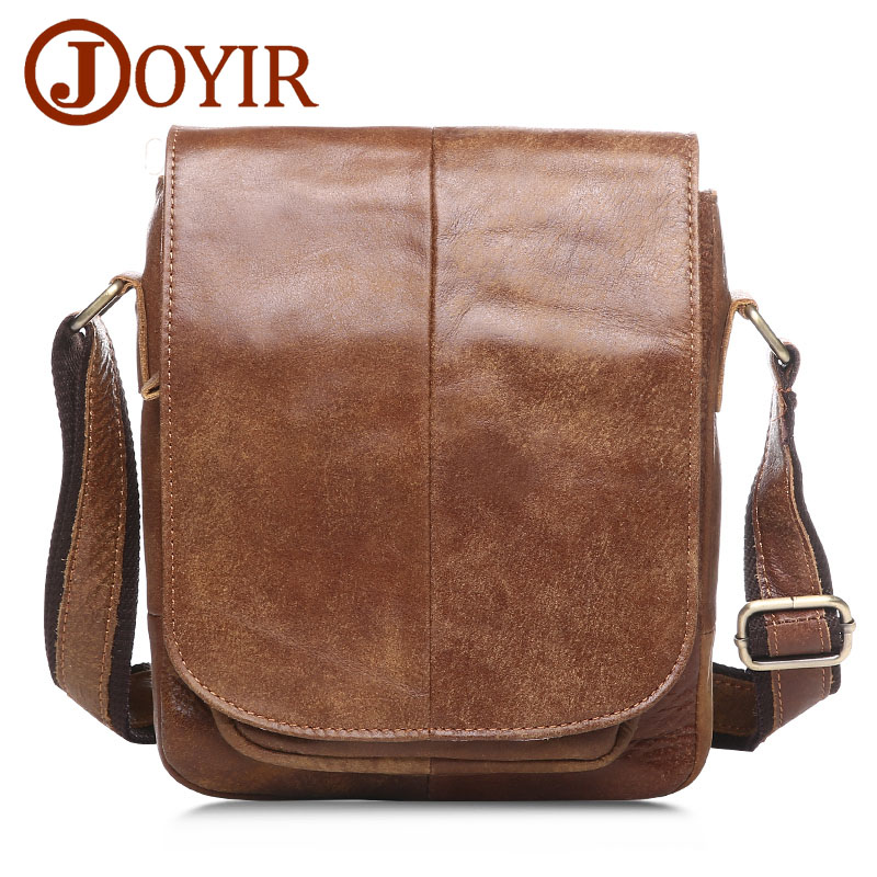JOYIR Genuine Leather Men Bags Male Cowhide Flap Bag Shoulder Crossbody Bags Handbags Messenger Small Men Leather Bag 8751 mva genuine leather men s messenger bag men bag leather male flap small zipper casual shoulder crossbody bags for men bolsas