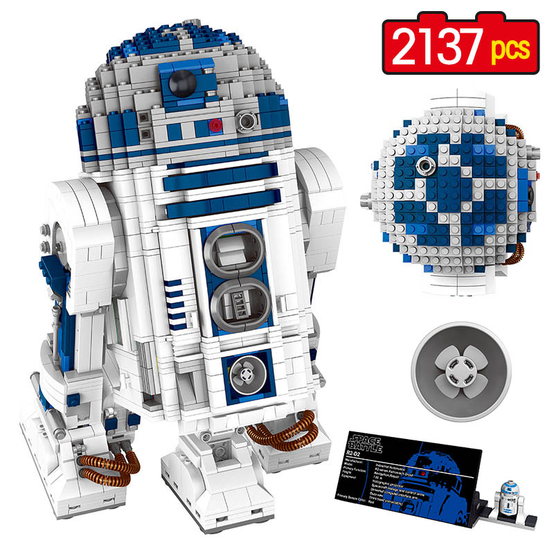 2137pcs Star Wars Building Block Sets The Force Awakens Robot R2-D2 Compatible LEGOINGLY Space Battle Technic 05043 Toy for Kid star wars 10373 force awakens tie advanced prototype building blocks toys for children gifts block compatible legoingly 75082