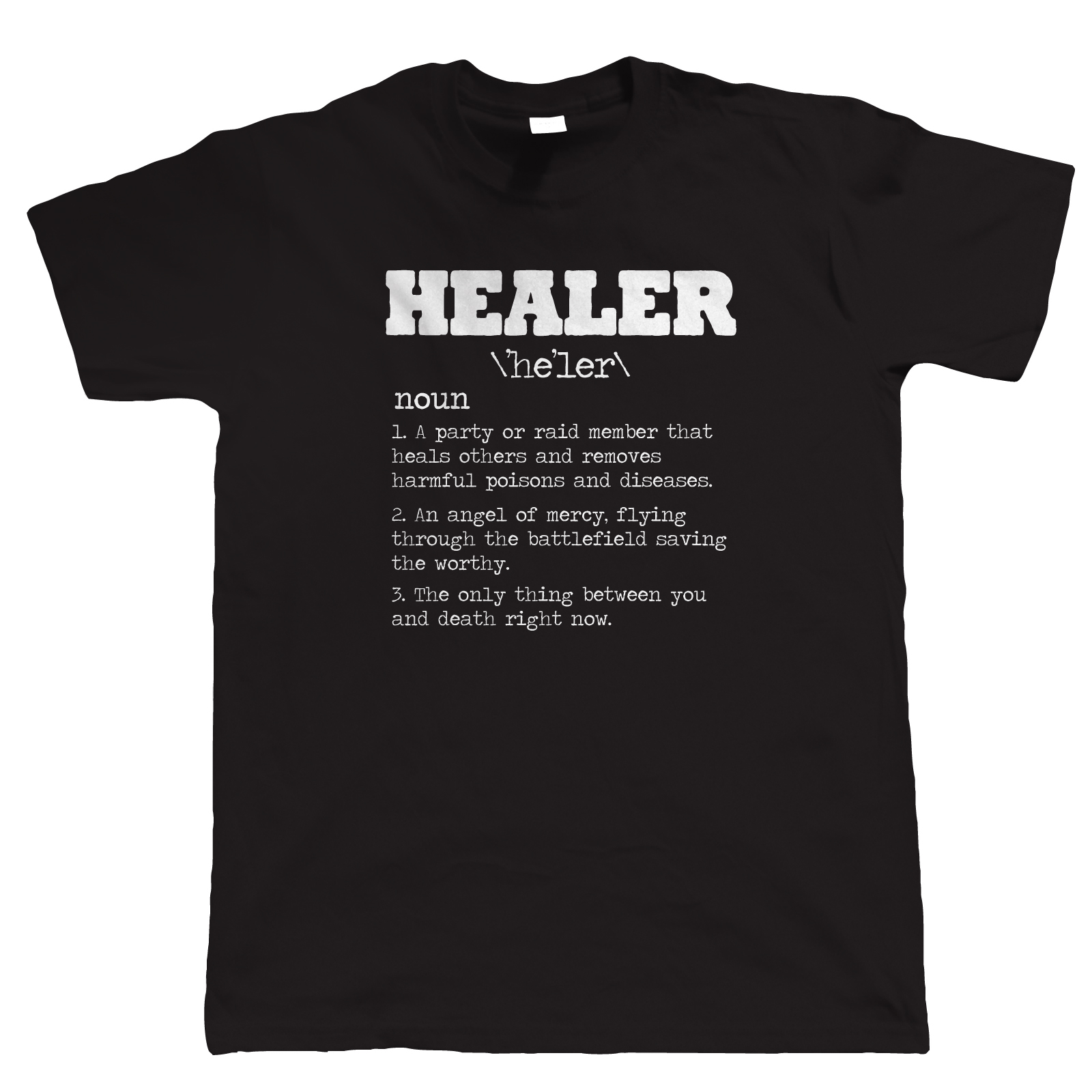 Healer RPG Gamer T Shirt - Video Game MMORPG PC Gamer WoW Horde Alliance Rogue Fashion Unique Classic Cotton Men T-Shirt