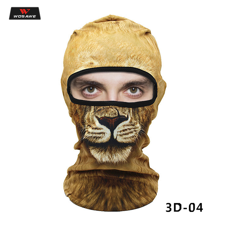 WOSAWE Balaclava Motorcycle Full Face Mask 3D Animal Cat Dog Hats Helmet Windproof Breathable Airsoft Mask Scarf Neck Warmer in Motorcycle Face Mask from Automobiles Motorcycles