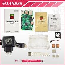 D Raspberry Pi 3 zestaw startowy-pi Model B 3, obiadokolacja/pi 3 case/UE wtyczka/radiator