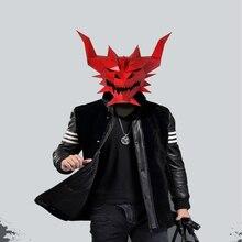 Бумажная маска 3d Красный Дьявол Призрак Монстр Костюм Косплей DIY Бумага Ремесло Маска модели Рождество Хэллоуин выпускной вечер вечерние