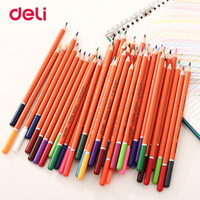 Deli Stationery Colored Pencils 48 Different Colors Pencil For Student Kids Gift Painting Colored Pencil Office