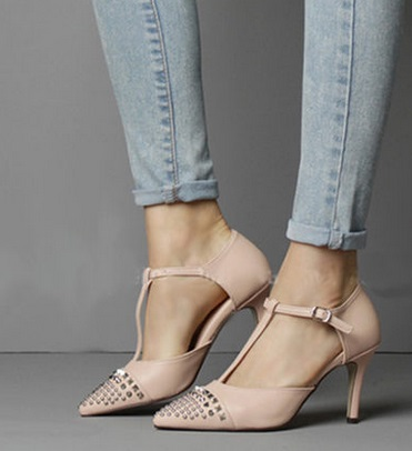 ФОТО High thin heels pointed toe small 30 31 32 33 plus size 40 41 42 43 female sandals free shipping