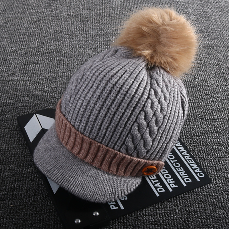 034942b40 Buy Baby hat wool cap male thick section 1 5 years old baby ball cap ...
