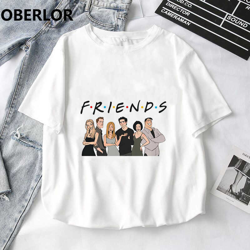 Best Friends Tv Show Printed Ulzzang Harajuku Kawaii Vogue T Shirt Women Summer The Office Funny Stranger Things Gothic Tops