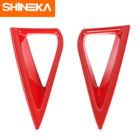 SHINEKA ABS Newest & Popular Exterior Daytime Running Light Decoration Cover Protect Stickers For Ford Mustang 2018+ Car Styling