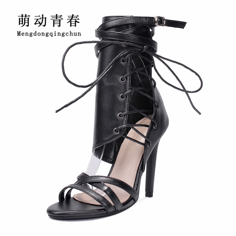 20dd3cea9d Fashion Women Pumps Gladiator Peep Toe Thin Heel Summer Women High Heels  Shoes Casual Lace Up Ankle Strap Women Pumps-in Women's Pumps from Shoes on  ...