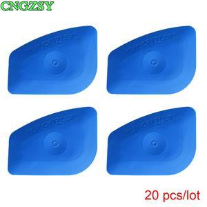 Image 1 - 20PCS Multilateral Soft Blue Scraper LIL CHIZLER Squeegee Window Tint Tools Vehicle Film Corner Plug Glass Decal Tools 20A25B