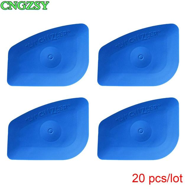 20PCS Multilateral Soft Blue Scraper LIL CHIZLER Squeegee Window Tint Tools Vehicle Film Corner Plug Glass Decal Tools 20A25B